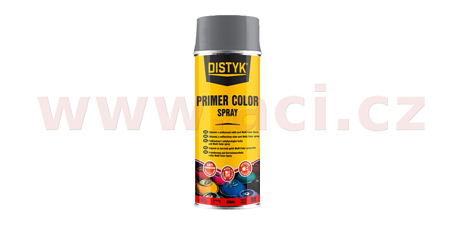 Primer color spray 400ml DISTYK - RAL9011 Grafitová černá